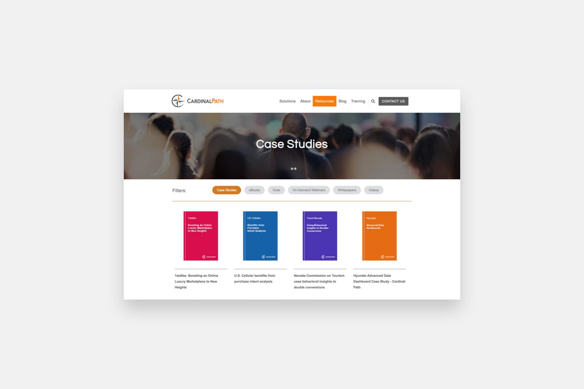 Cardinal Path Resources Page Design