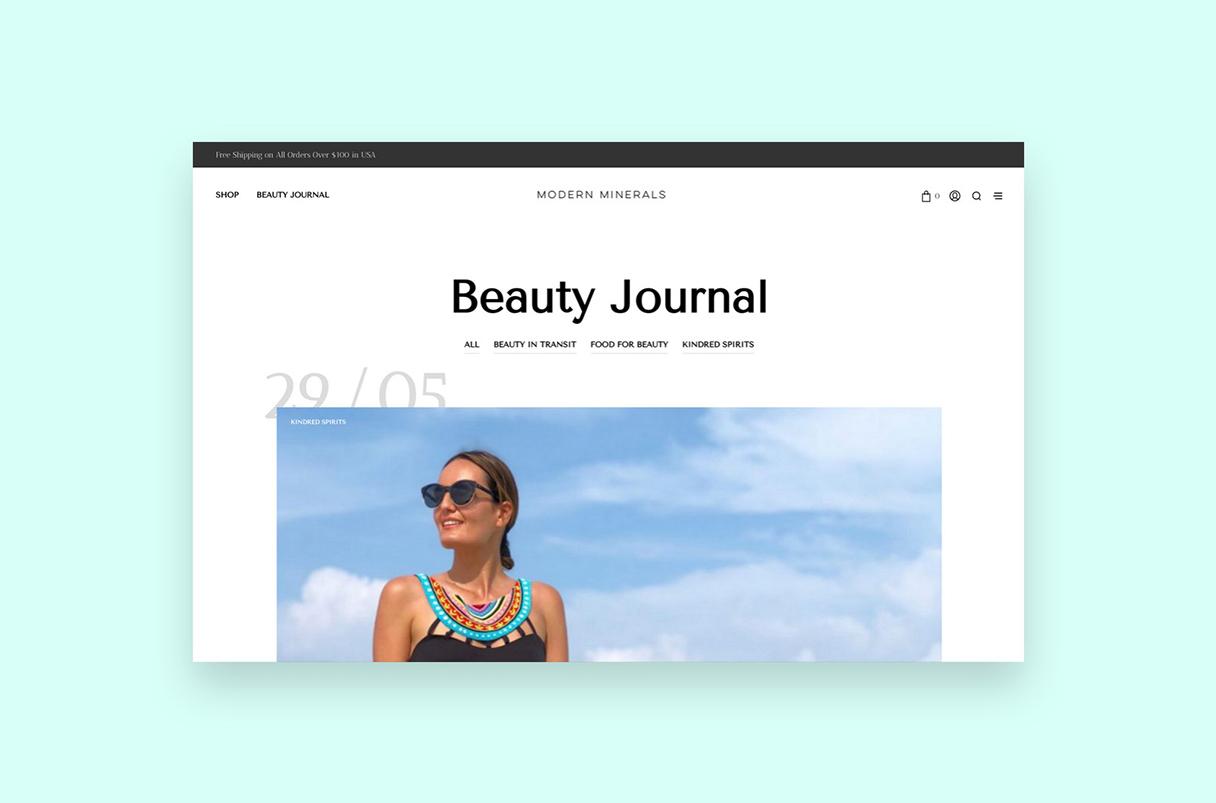 Modern Minerals Beauty Journal