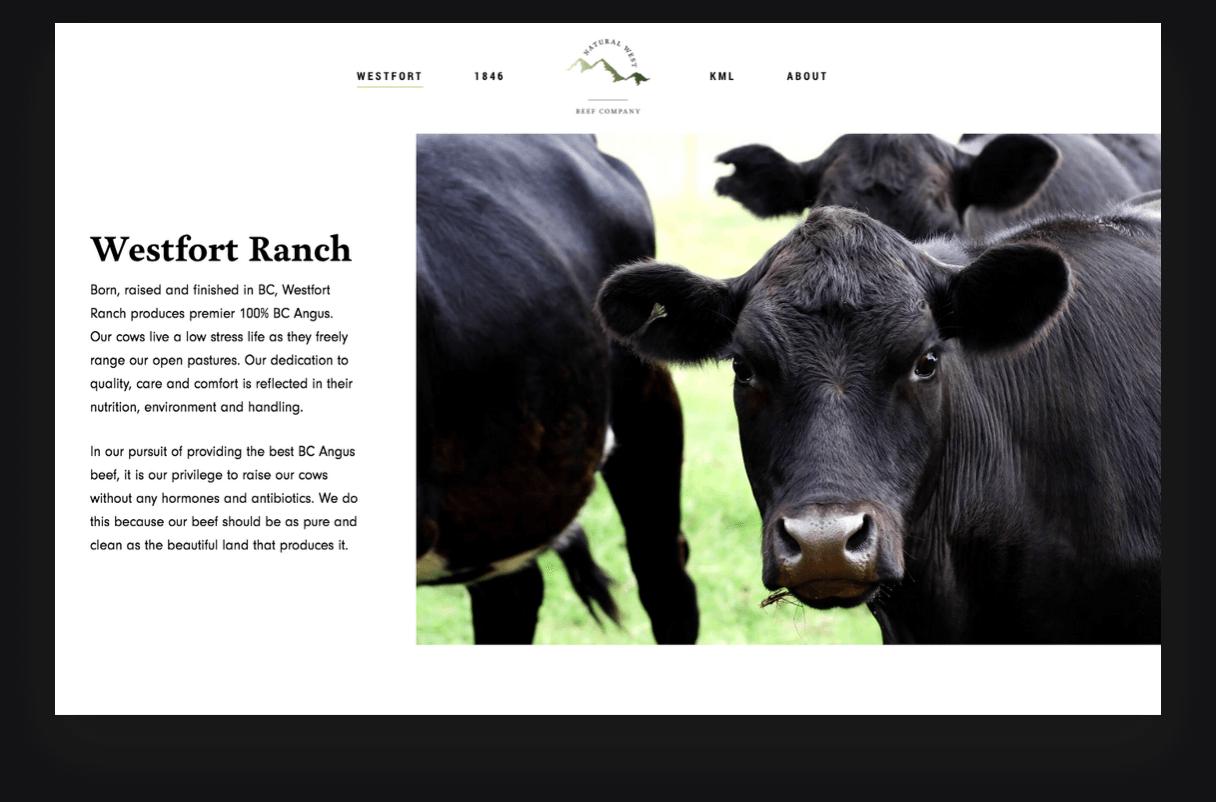 Natural West Beef Westfort Ranch